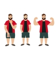 Man Figure Fat Normal Slim vector image