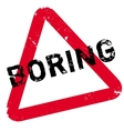Boring rubber stamp vector image