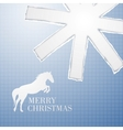 Torn christmas decorative paper with hole vector image