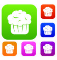 cupcake set collection vector image