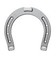 steel metal horseshoe luck symbol fortune talisman vector image
