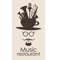 Music restaurant vector image