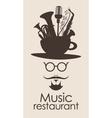 Music restaurant vector image vector image