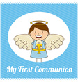 my first communion vector image