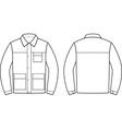 Work jacket vector image
