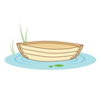 boat on a pond vector image
