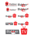 Chating tv or television logo for website vector image