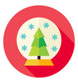 Decorative Snowglobe with Christmas Tree Circle vector image