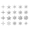 Facet stars vector image