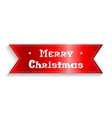 Merry christmas card The red ribbon with the vector image