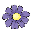 Purple flower vector image