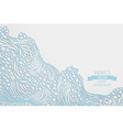 Waves paper background vector image