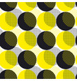 yellow round geometry seamless pattern vector image