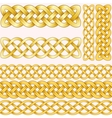 Celtic braids set with seamless patterns for vector image