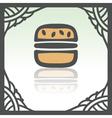 outline hamburger fast food icon Modern vector image