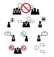 Human management icons set vector image