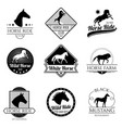 racing horse running mare vintage logos vector image vector image