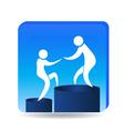 Climbing to success goals logo vector image