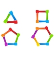 United hands Conceptual symbol vector image vector image