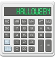 halloween calculator vector image vector image