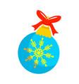 blue christmas ball gift vector image