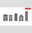 buildings icon set city symbols vector image
