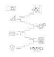 Infographic finance concept vector image