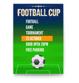 poster of european football cup design of flyer vector image