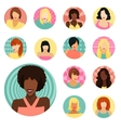 Set of female portraits vector image