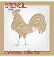 Set of Stencil design templates Christmas vector image