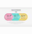 three steps infographic timeline presentation vector image
