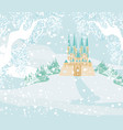 winter landscape with castle vector image