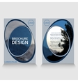 brochure template annual report sample vector image
