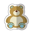 bear teddy toy isolated icon vector image