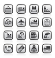 shipping and delivery icons vector image vector image
