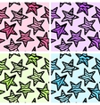 Set of 4 zebra print stars backgrounds vector image vector image