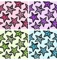 Set of 4 zebra print stars backgrounds vector image