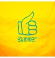 Thumb up and like concept symbol vector image