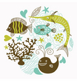 sea fauna vector image