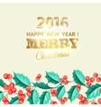 Christmas mistletoe holiday card with text vector image