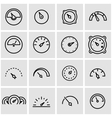 line meter icon set vector image