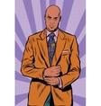 Retro African American businessman in elegant suit vector image
