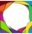 Abstract rainbow background overlap layer and vector image