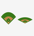baseball field plan vector image