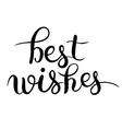 best wishes hand lettering inscription handwritten vector image