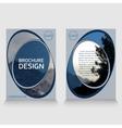 brochure template annual report sample vector image