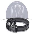 men leather belt vector image