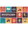 mysticism - set of flat design infographics vector image