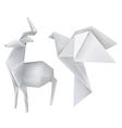 Origami deer dove vector image