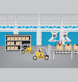 production line vector image